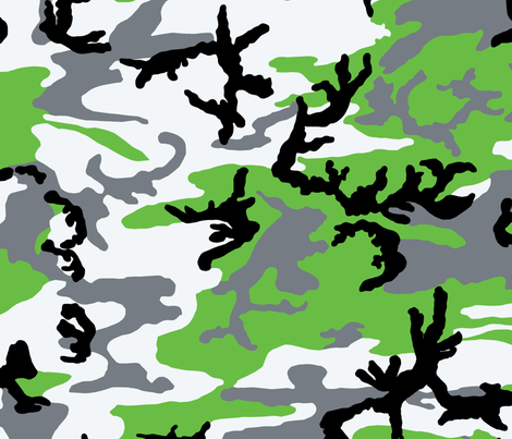 Woodland Zombie Green Camo fabric by ricraynor on Spoonflower - custom fabric