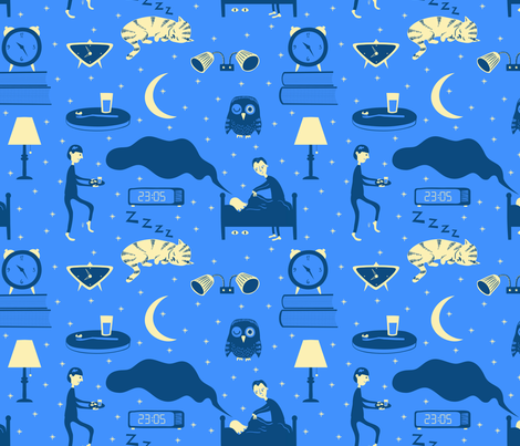 Twinkle twinkle fabric by toveform on Spoonflower - custom fabric