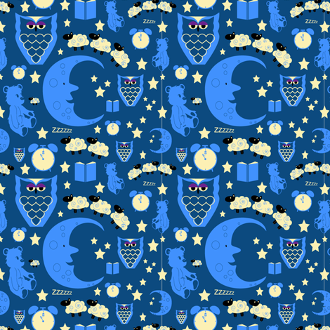 Bedtime Sweet Dreams fabric by sarahjtwist on Spoonflower - custom fabric