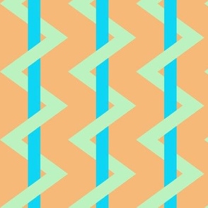 Striped Chevron orange