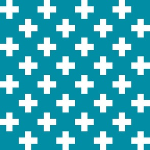 dark teal cross