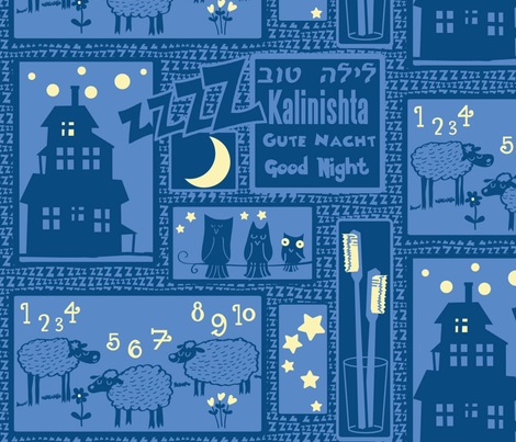 good-night fabric by motyka on Spoonflower - custom fabric