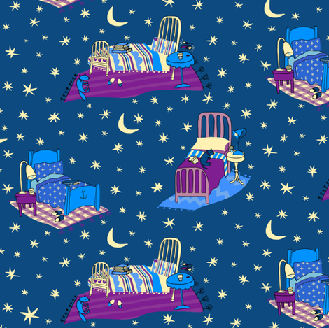 Bedtime Magic fabric by pattyryboltdesigns on Spoonflower - custom fabric