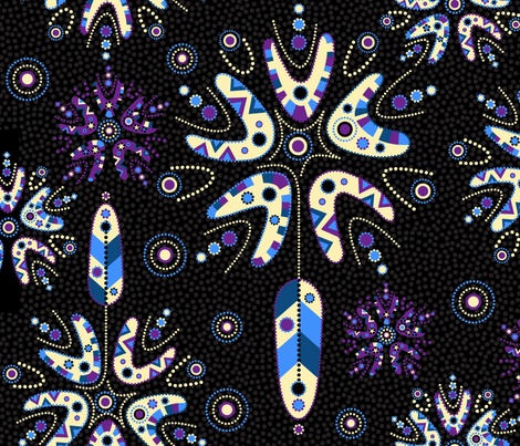 Dreamtime Dreamcatcher fabric by celiaforrester on Spoonflower - custom fabric