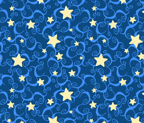 Stars fabric by joyfulrose on Spoonflower - custom fabric