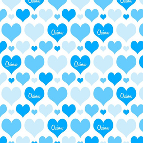 Personalised Heart Design - Blues