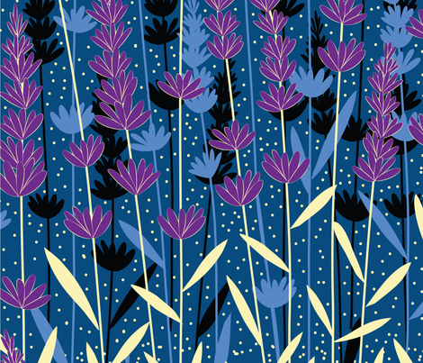 lavender fabric by gracedesign on Spoonflower - custom fabric