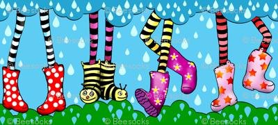 cute wellies stripe
