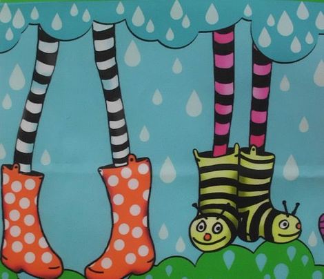 cute wellies stripe