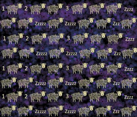 Sheeps and sleep fabric by sarah_s_ on Spoonflower - custom fabric
