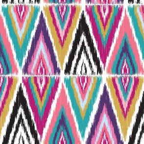 Color Pop Ikat Split Diamonds