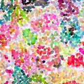 Pointillism inspired floral print