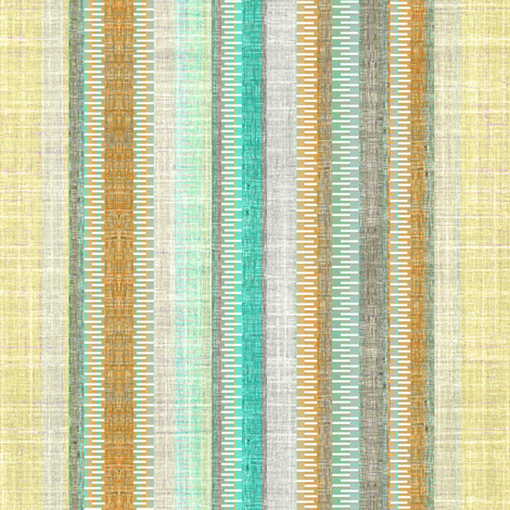 Linen Vintage Stripe  fabric by joanmclemore on Spoonflower - custom fabric