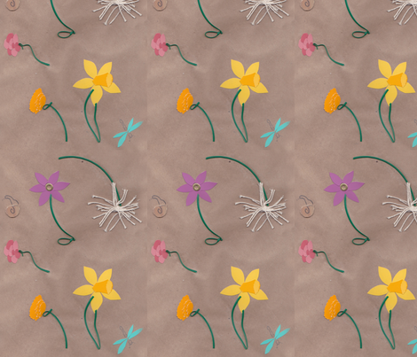 Paper Spring fabric by kellyw on Spoonflower - custom fabric
