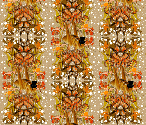 Nouveau Cricket fabric by whimzwhirled on Spoonflower - custom fabric