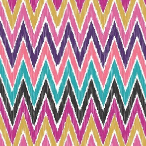 Color Pop Ikat Chevron