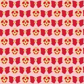 Red Brooch -pink-