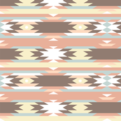 Tribal Aztec Ikat Pastel Stripes