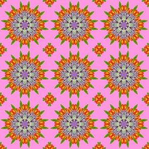 Floral Garden Kaleidescope Pink