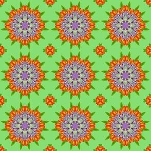 Floral Garden Kaleidoscope Green