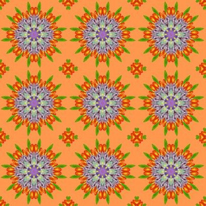 Floral Garden Kaleidoscope Orange