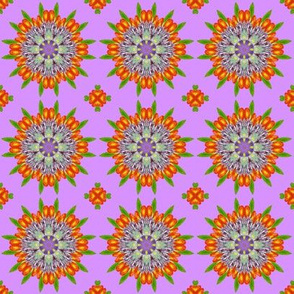 Floral Garden Kaleidoscope Purple
