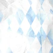 Distressed Blue Argyle Diamond