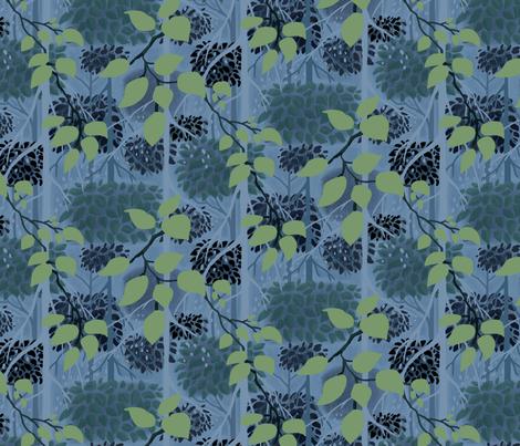 Fairy Tale Woodland 3 fabric by vinpauld on Spoonflower - custom fabric