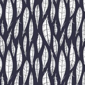 Quail Feathers (Midnight)