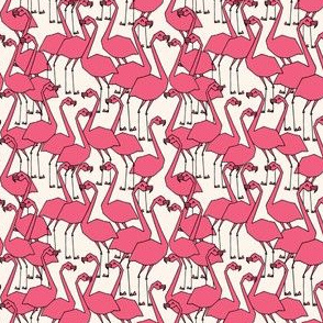 Flamingo - French Rose/Champagne (Smaller Version) by Andrea Lauren