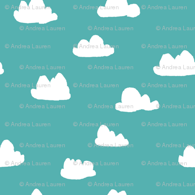 Cloud - Tiffany Blue (Smaller Version) by Andrea Lauren