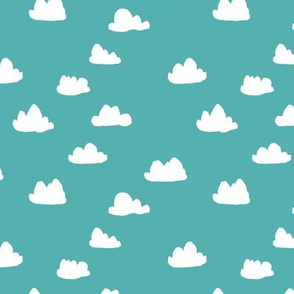 clouds // small cloud print for baby nursery and home decor textiles