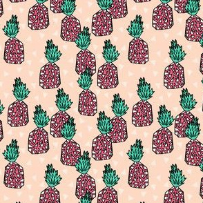 pineapples // sweet blush pineapple print summer pink girls fruit