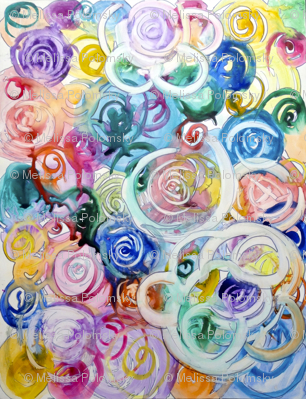 Swirling Abstract Floral Watercolor