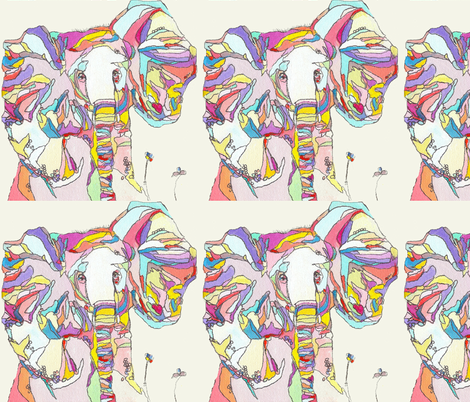 Large Print Colorful Elephant  fabric by theartwerks on Spoonflower - custom fabric