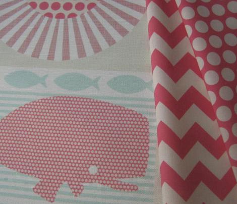 whale polka dot pink