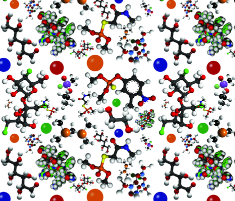 Buncha Molecules fabric by jenarra on Spoonflower - custom fabric
