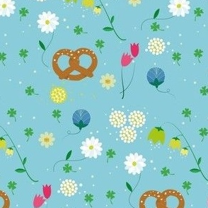 Flowers and pretzels