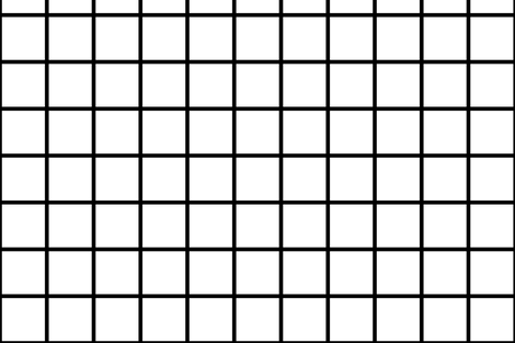 Small Black and White Square Grid fabric by amcnamara on Spoonflower - custom fabric