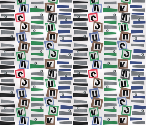 Wonky DNA fabric by kerryofspoonflower on Spoonflower - custom fabric