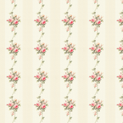 Vintage Flower Garden Stripes