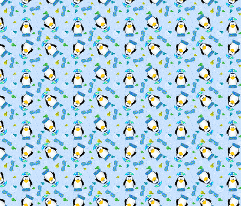 Wellies and Galoshes Penguin fabric by rhyannon on Spoonflower - custom fabric