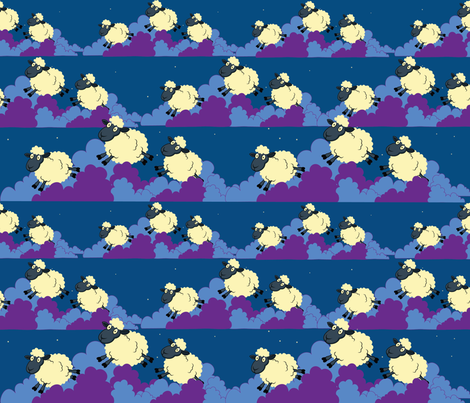 sleepingsheep2 fabric by colleen_currans_bush on Spoonflower - custom fabric