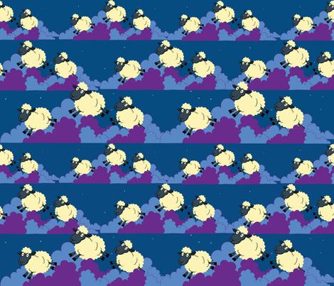 sleepingsheep2 fabric by colleen_currans_bush on Spoonflower - custom fabric