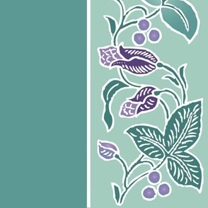 Naturalistic-flwr-border-dress-fabric-whtlns-VECTOR-mgrn-lavs-SAGE-w-sprigs-300-12x54in-ROTATED