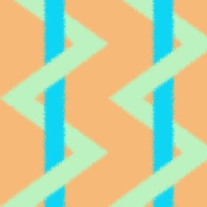 Striped Chevron ikat