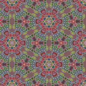 Aztec Kaliedoscope in muted colors