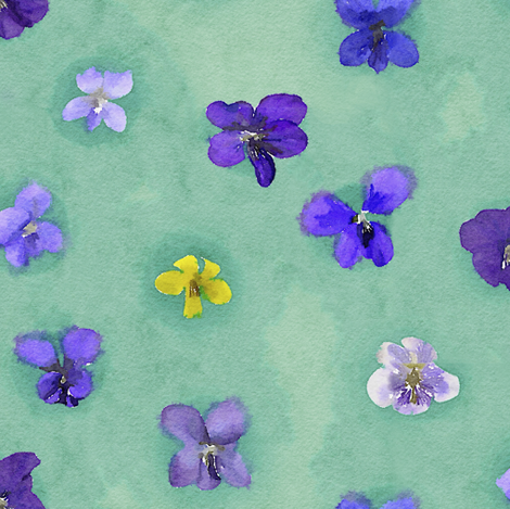 Watercolor violets fabric by nlsd on Spoonflower - custom fabric