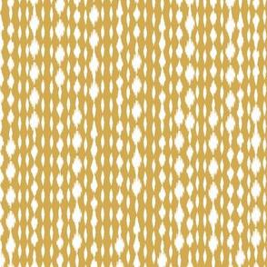 Yellow & White Spotty Stripes