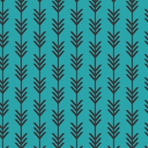 Teal & Black Chevron Arrows